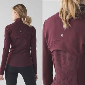 Lululemon Bordeaux Define Laser Dot Zip Jacket 10
